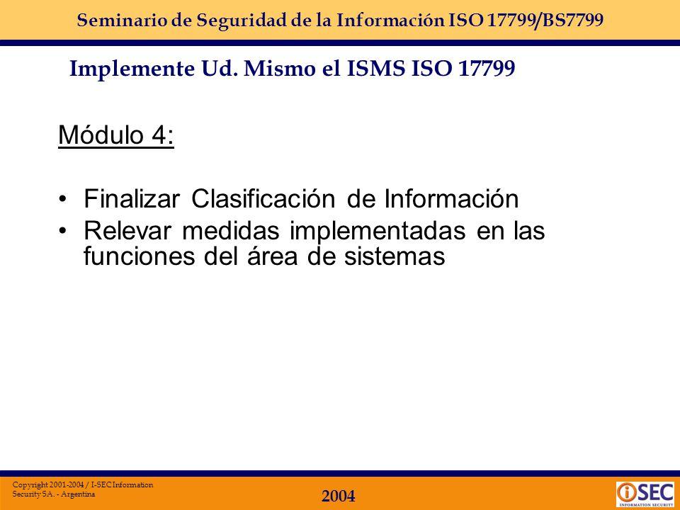 Finalizar Clasificación de Información