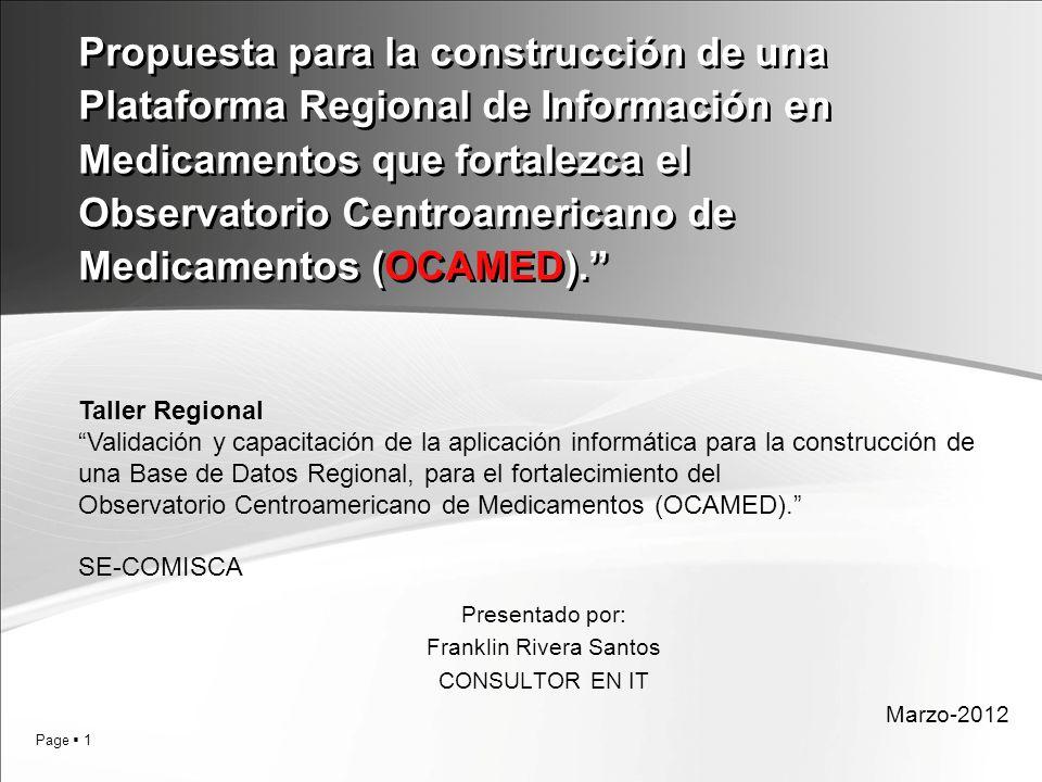 Presentado por: Franklin Rivera Santos CONSULTOR EN IT Marzo-2012