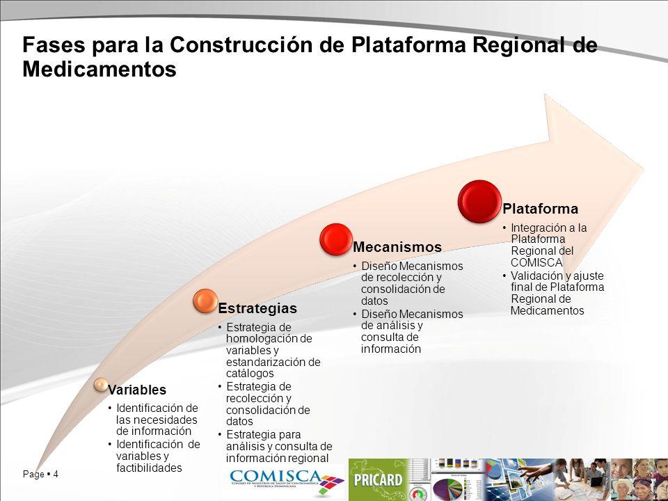 Fases para la Construcción de Plataforma Regional de Medicamentos