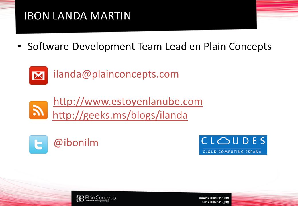 IBON LANDA MARTIN Software Development Team Lead en Plain Concepts