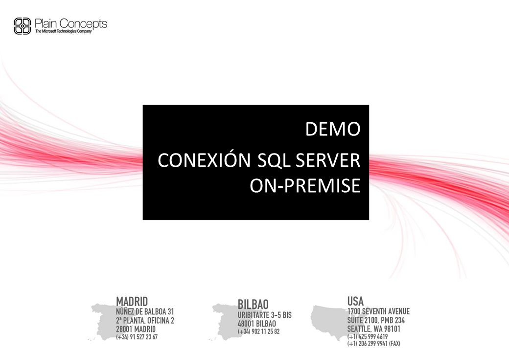 DEMO CONEXIÓN SQL SERVER ON-PREMISE
