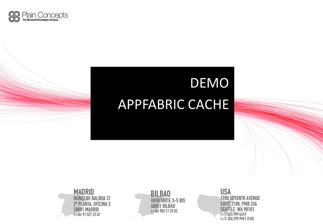 DEMO APPFABRIC CACHE
