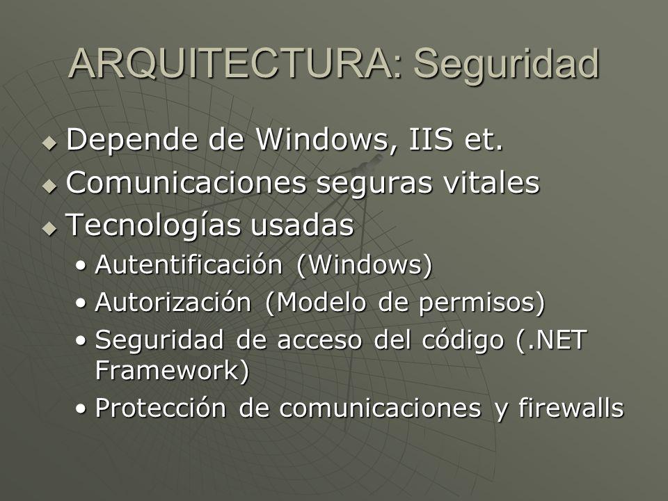 ARQUITECTURA: Seguridad