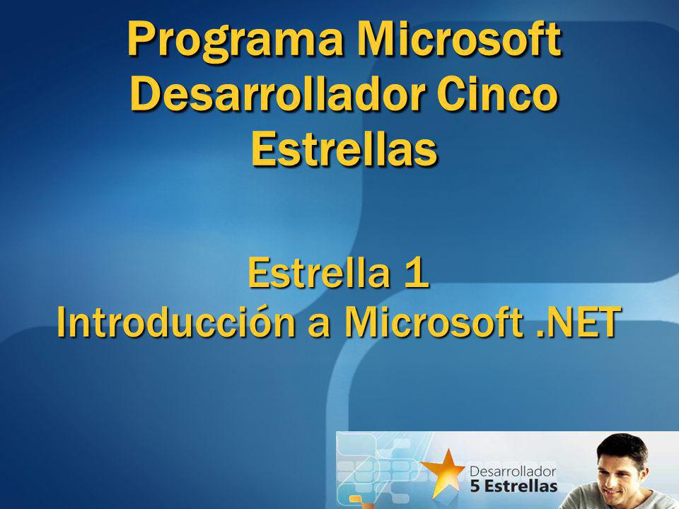 Estrella 1 Introducción a Microsoft .NET