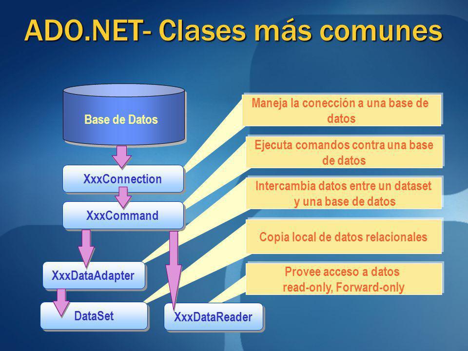ADO.NET- Clases más comunes