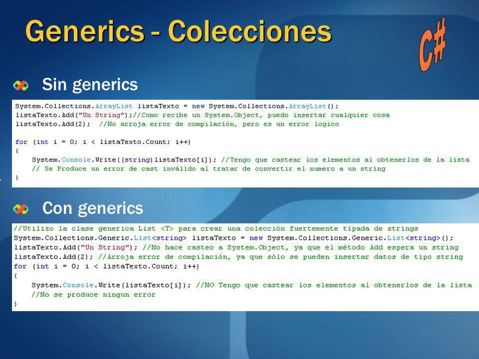 Generics - Colecciones