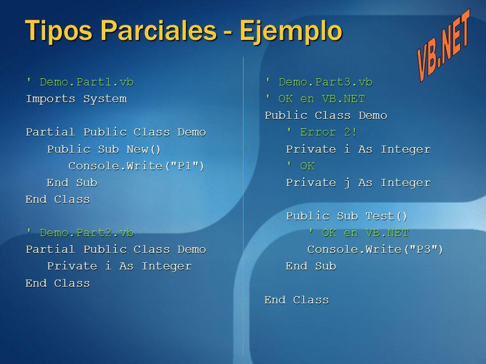 Tipos Parciales - Ejemplo