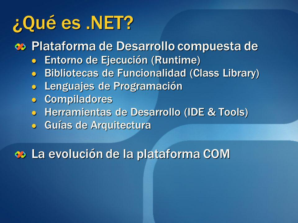 ¿Qué es .NET Plataforma de Desarrollo compuesta de