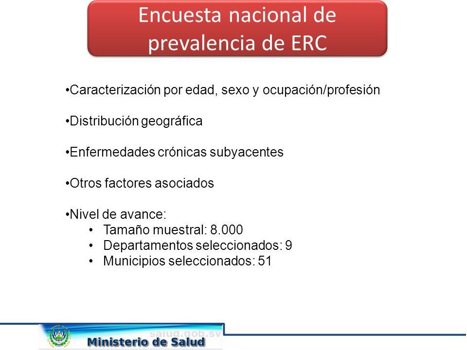 Encuesta nacional de prevalencia de ERC