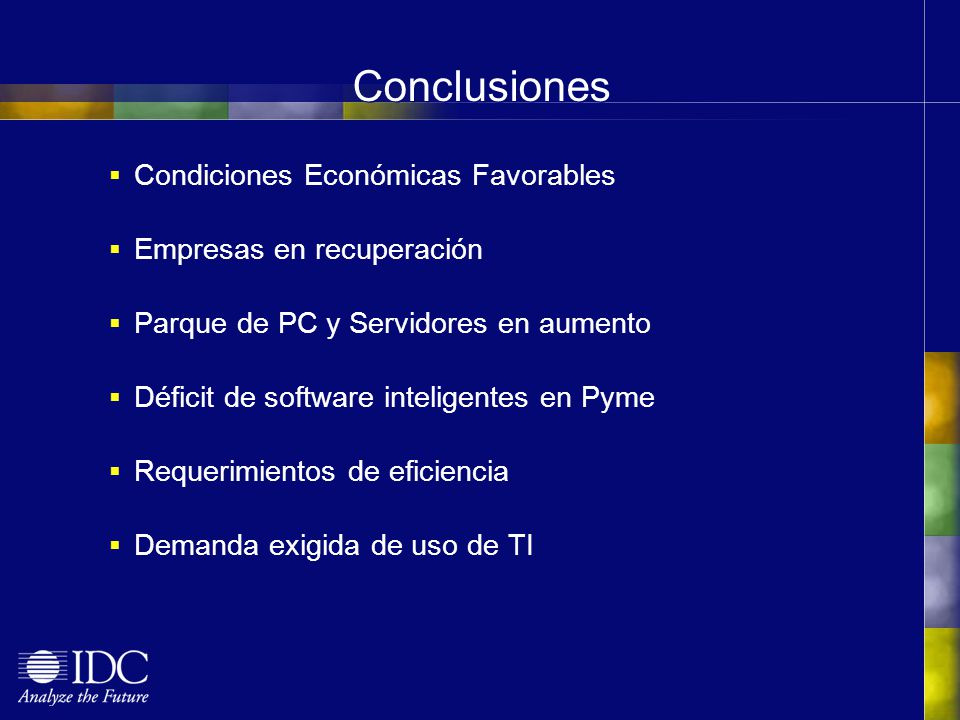 Conclusiones Condiciones Económicas Favorables