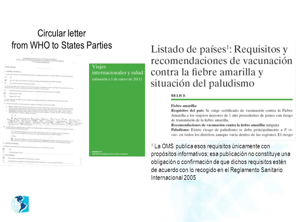Circular letter from WHO to States Parties