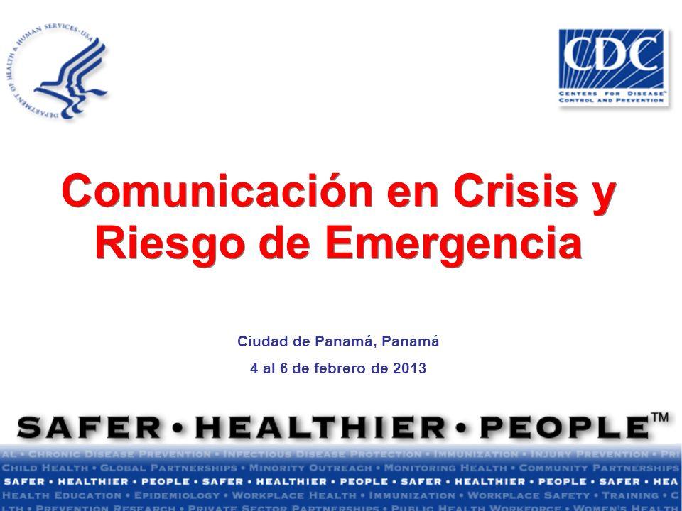 Comunicación en Crisis y Riesgo de Emergencia