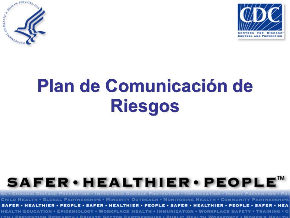 Plan de Comunicación de Riesgos