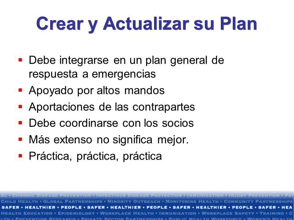 Crear y Actualizar su Plan
