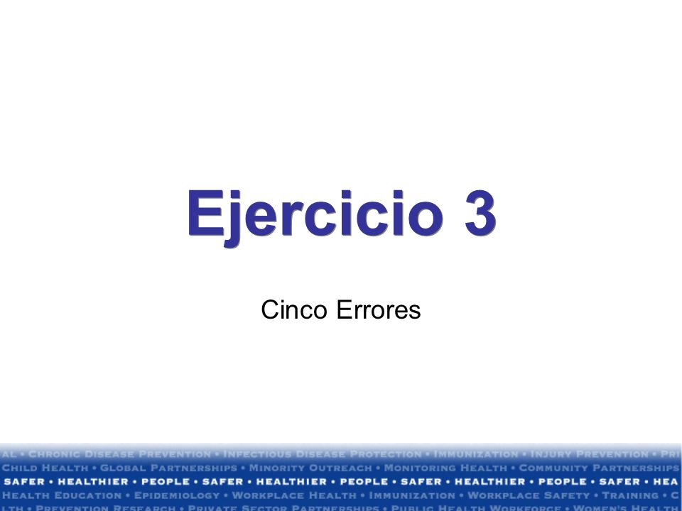 Ejercicio 3 Cinco Errores