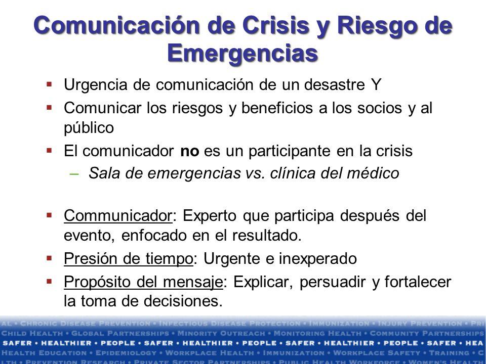 Comunicación de Crisis y Riesgo de Emergencias