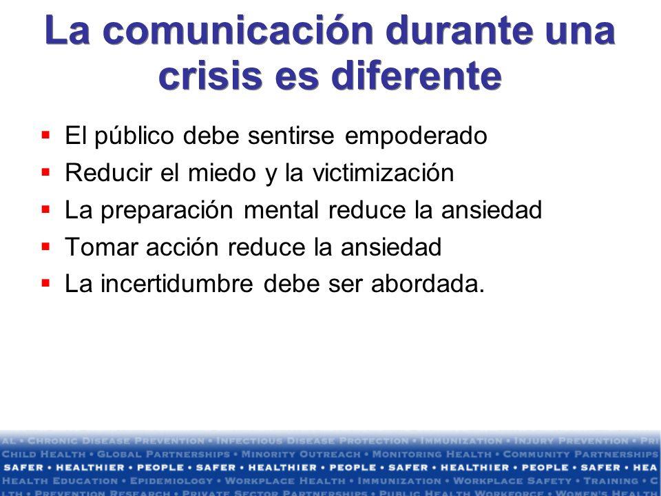 La comunicación durante una crisis es diferente