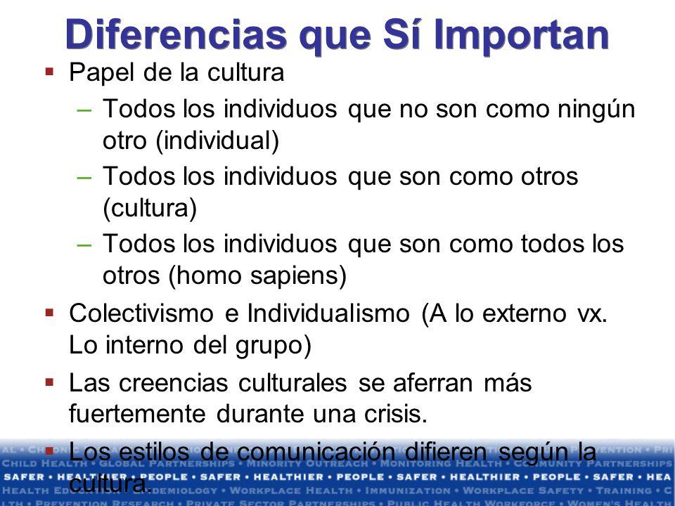 Diferencias que Sí Importan
