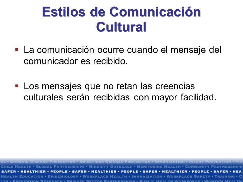 Estilos de Comunicación Cultural