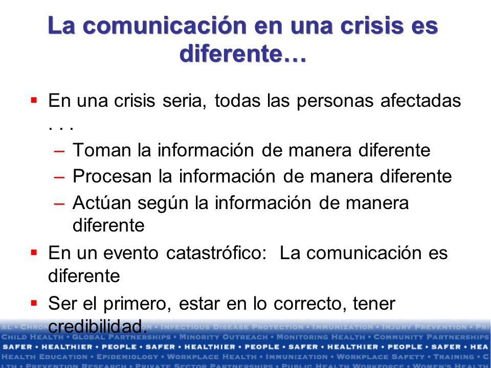 La comunicación en una crisis es diferente…