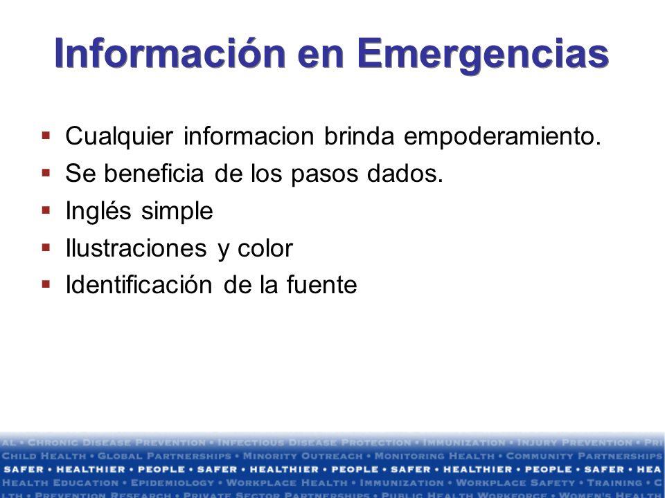 Información en Emergencias