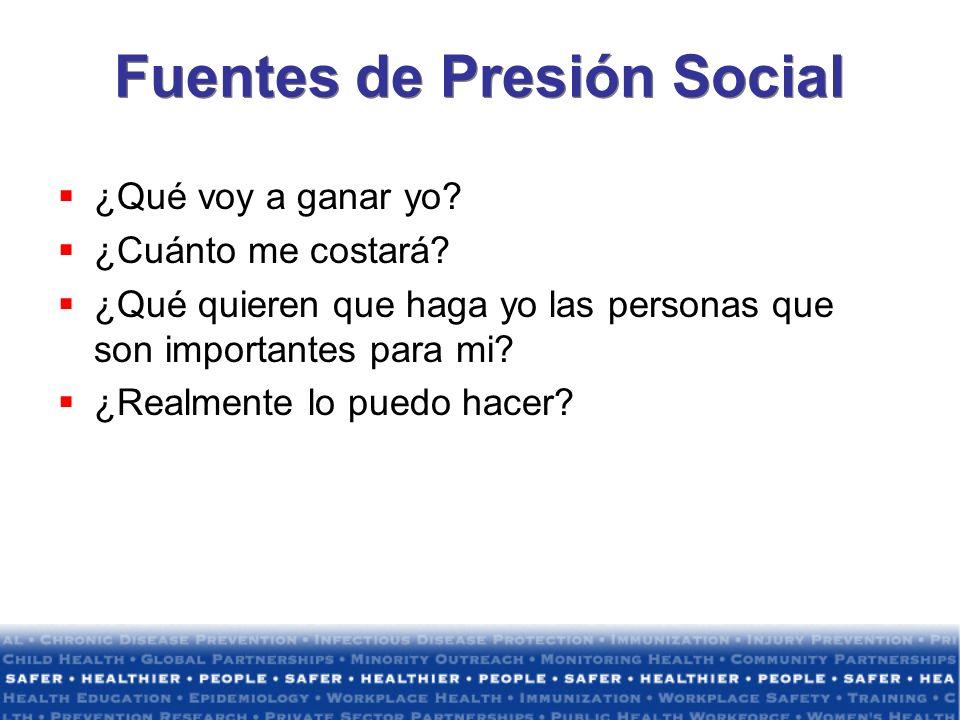 Fuentes de Presión Social
