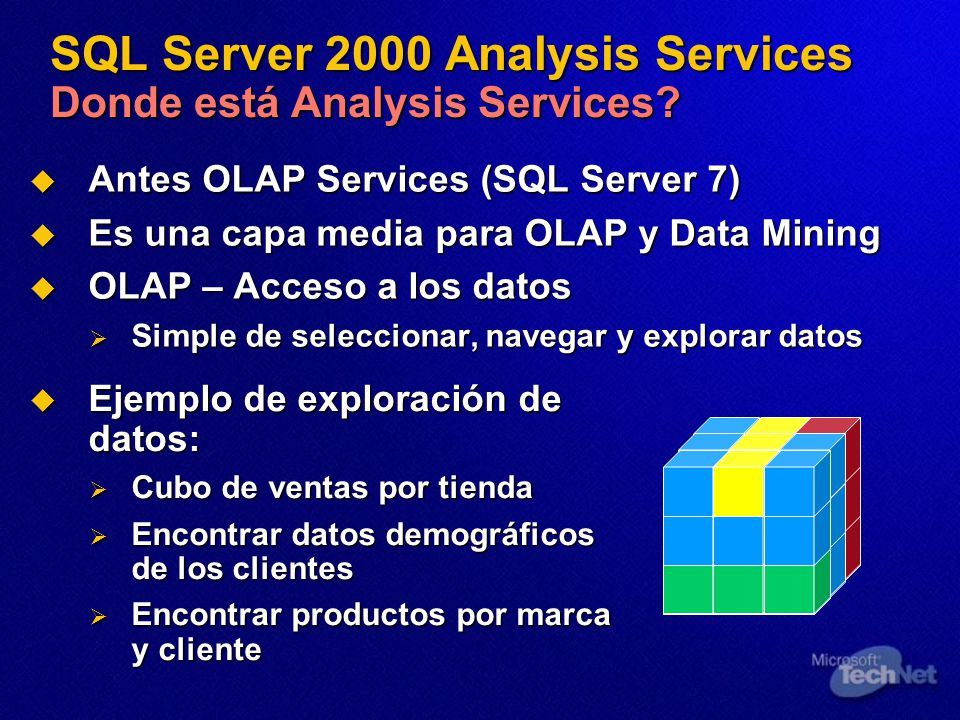 SQL Server 2000 Analysis Services Donde está Analysis Services