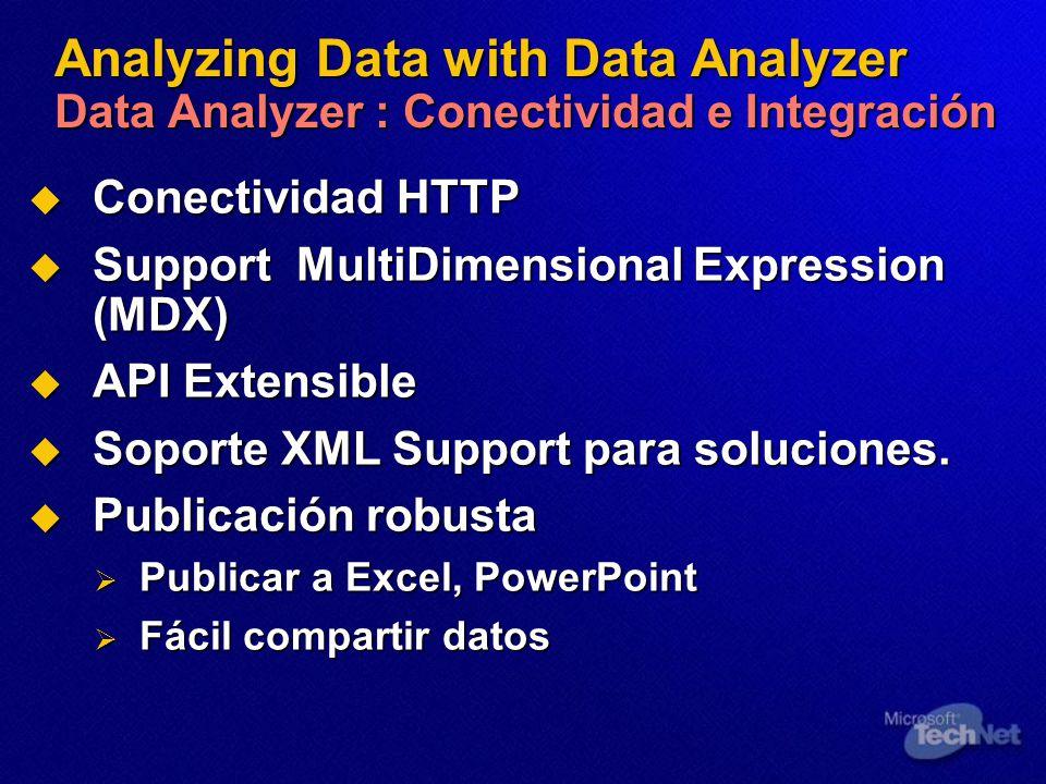Analyzing Data with Data Analyzer Data Analyzer : Conectividad e Integración