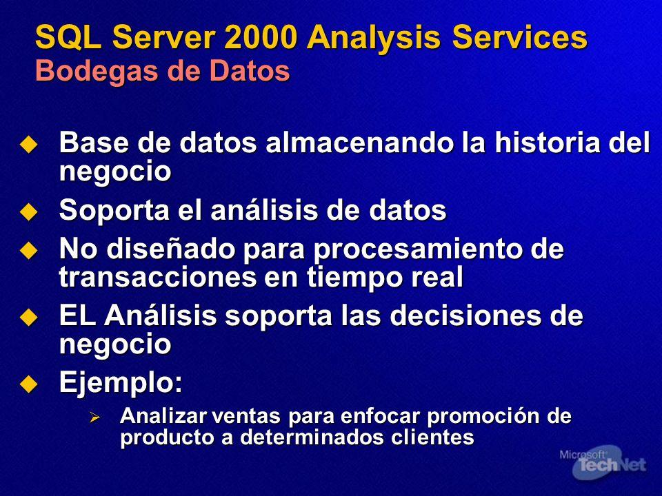 SQL Server 2000 Analysis Services Bodegas de Datos