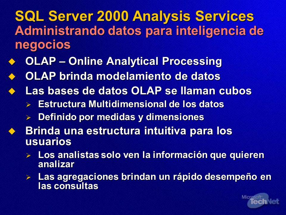 SQL Server 2000 Analysis Services Administrando datos para inteligencia de negocios