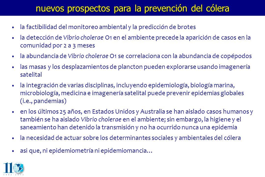 nuevos prospectos para la prevención del cólera