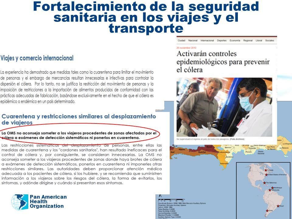 Fortalecimiento de la seguridad sanitaria en los viajes y el transporte