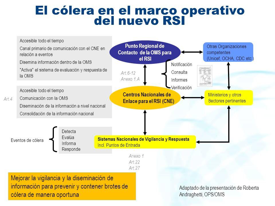 El cólera en el marco operativo del nuevo RSI
