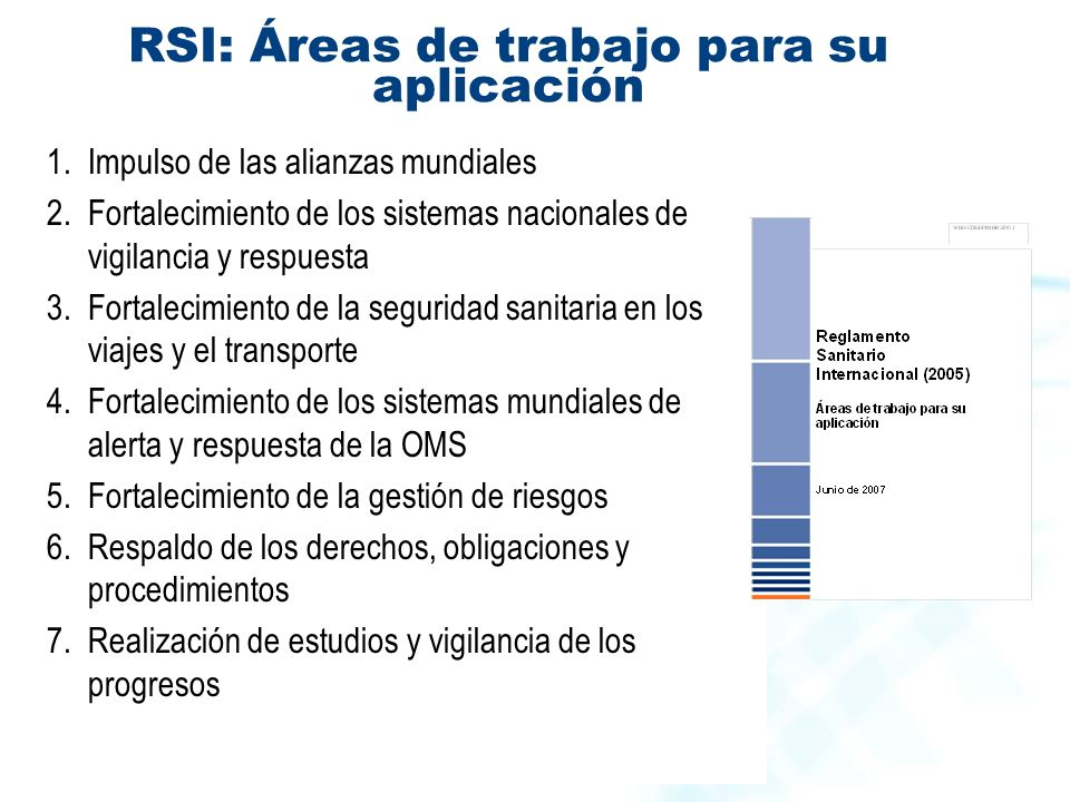RSI: Áreas de trabajo para su aplicación