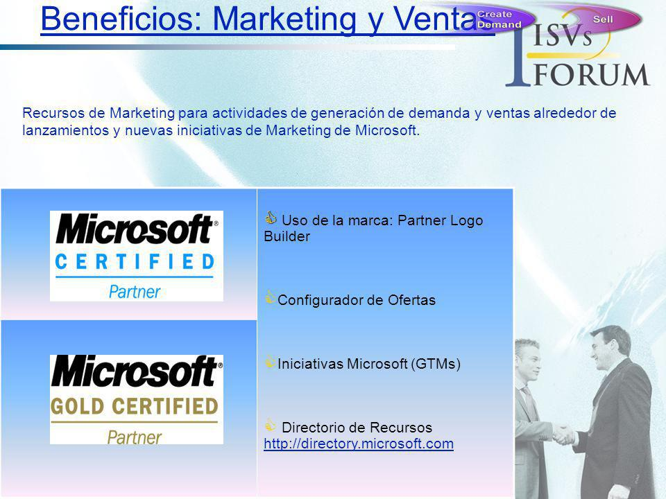 Beneficios: Marketing y Ventas