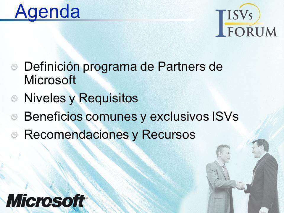 Agenda Definición programa de Partners de Microsoft