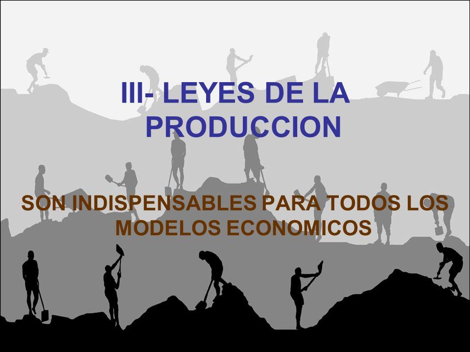 III- LEYES DE LA PRODUCCION