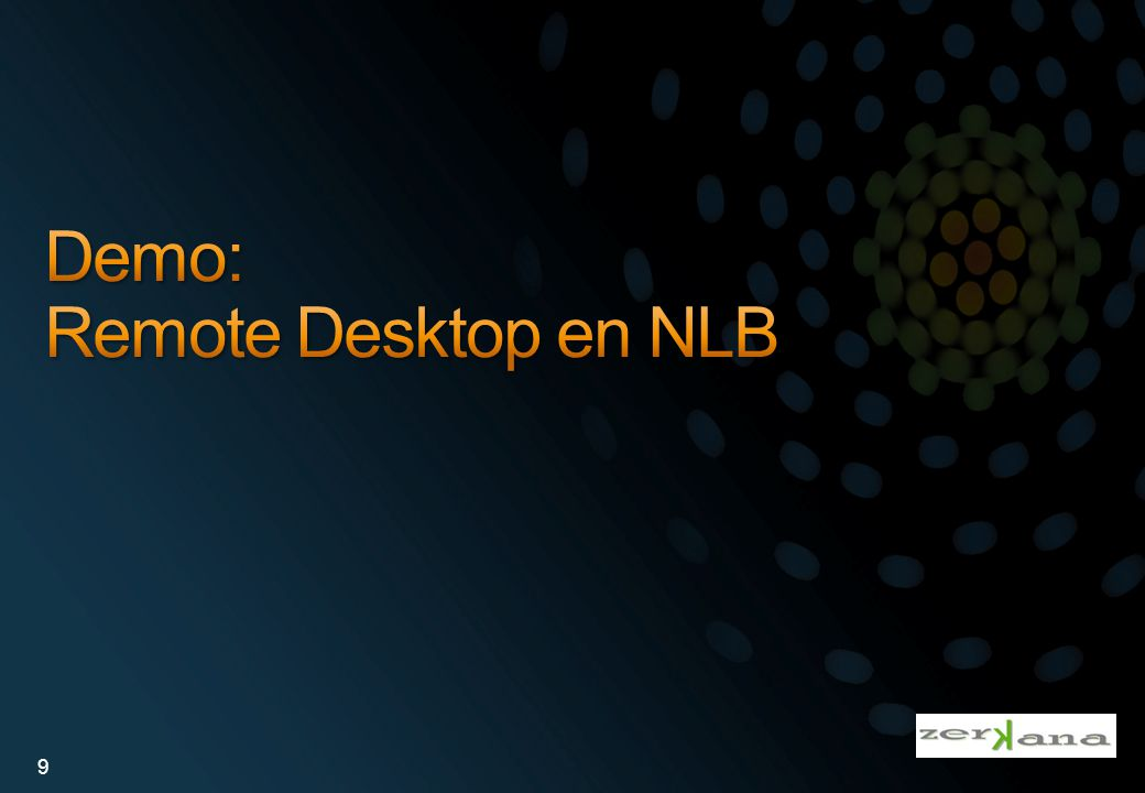 Demo: Remote Desktop en NLB