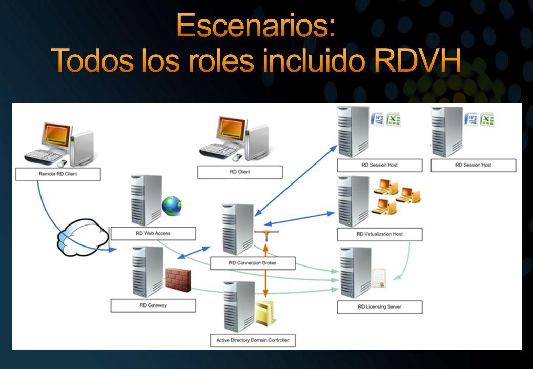 Escenarios: Todos los roles incluido RDVH