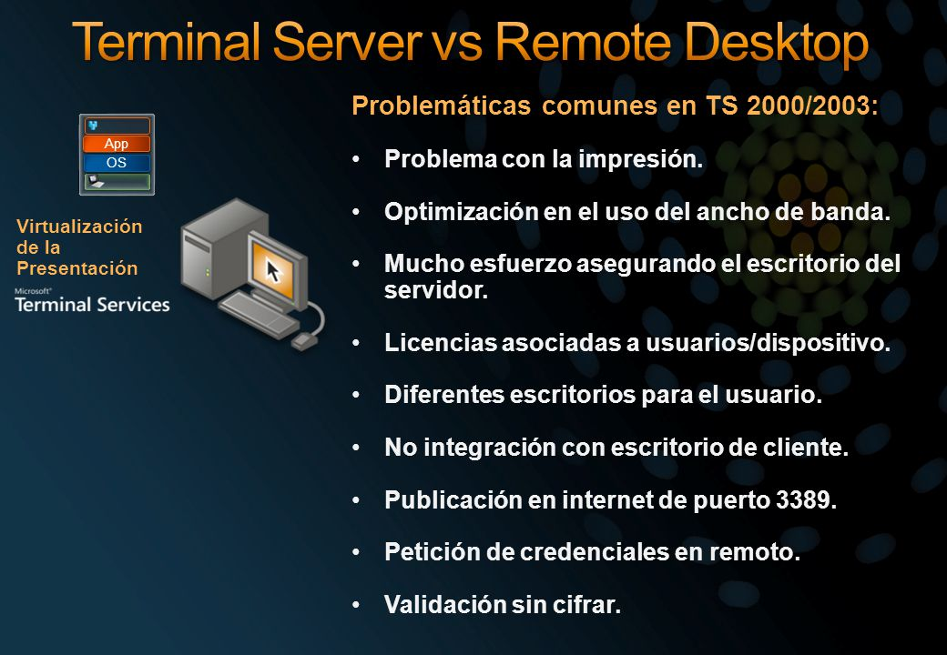Terminal Server vs Remote Desktop