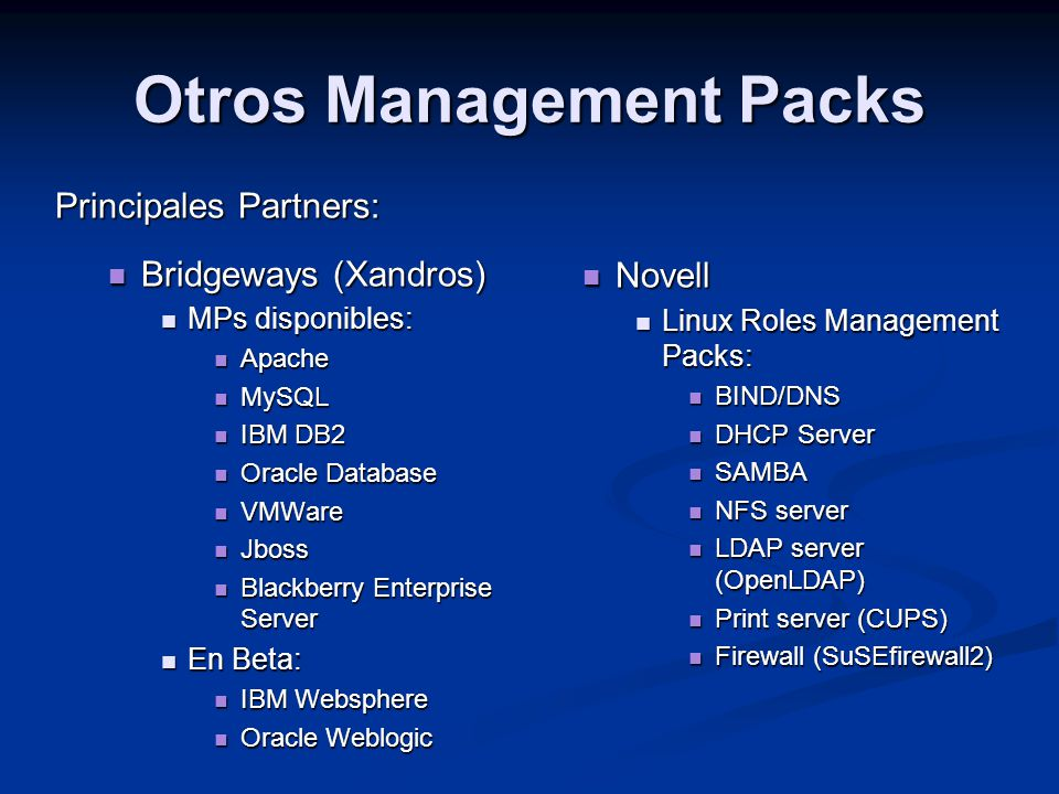 Otros Management Packs