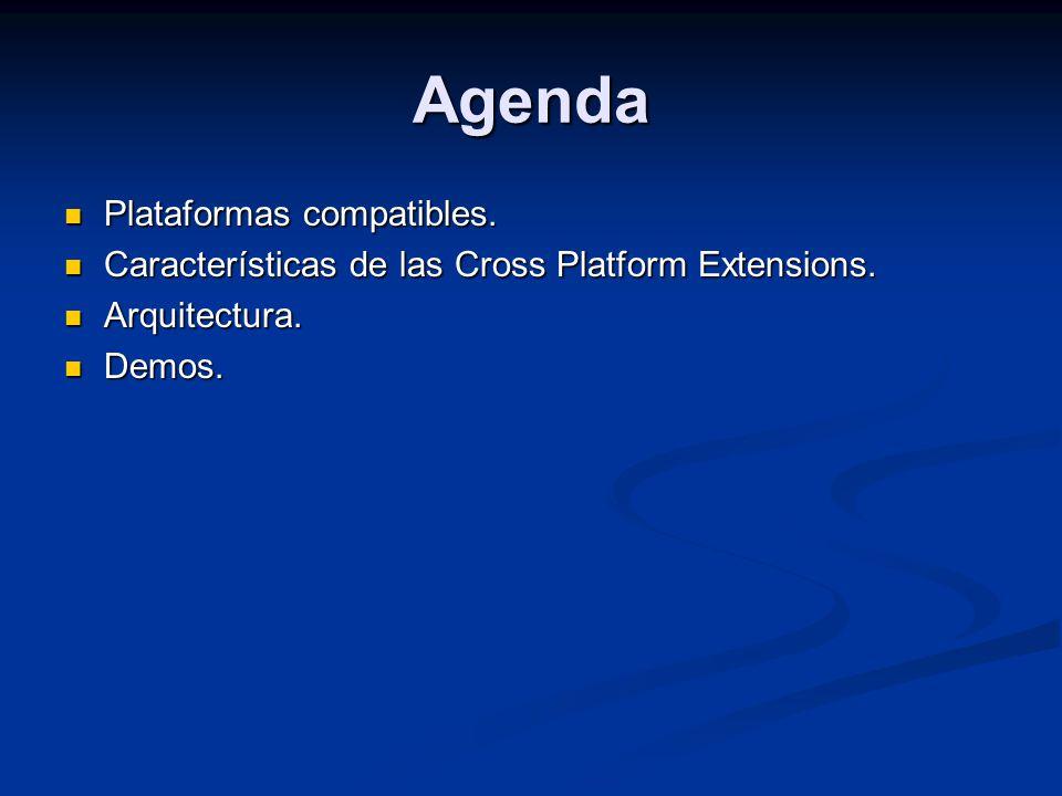Agenda Plataformas compatibles.