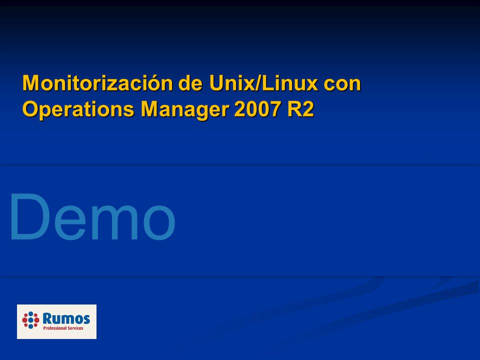 Monitorización de Unix/Linux con Operations Manager 2007 R2