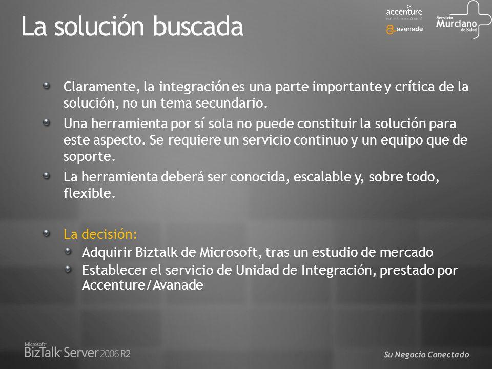La solución buscada Claramente, la integración es una parte importante y crítica de la solución, no un tema secundario.