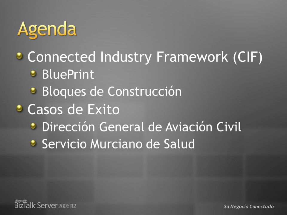 Agenda Connected Industry Framework (CIF) Casos de Exito BluePrint