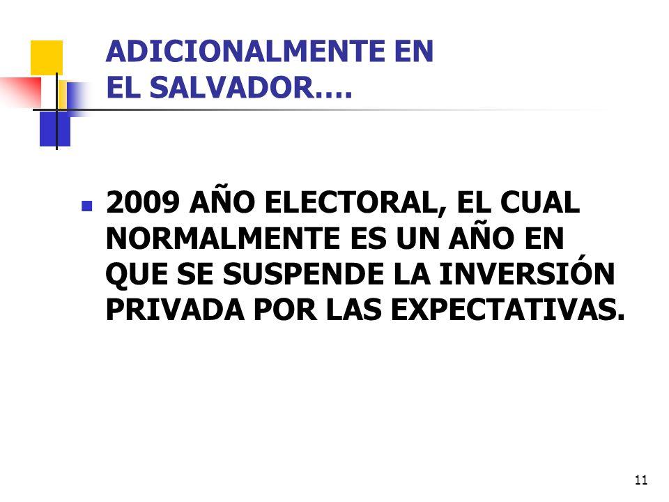 ADICIONALMENTE EN EL SALVADOR….