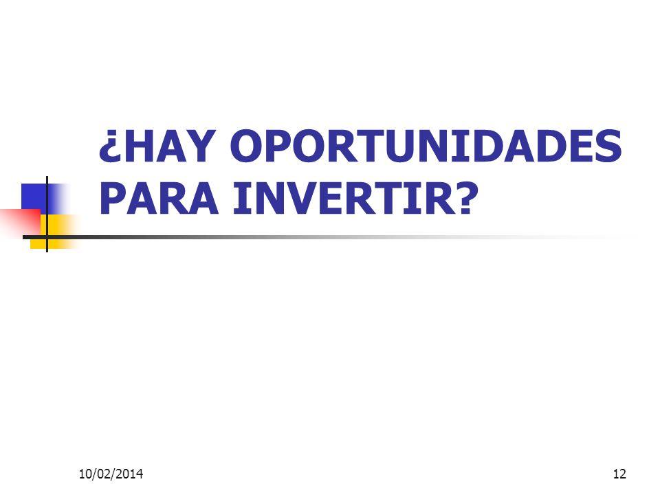 ¿HAY OPORTUNIDADES PARA INVERTIR