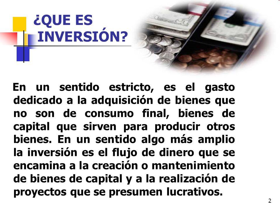¿QUE ES INVERSIÓN