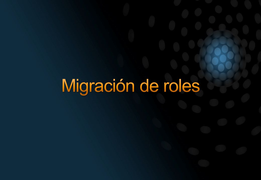 Migración de roles