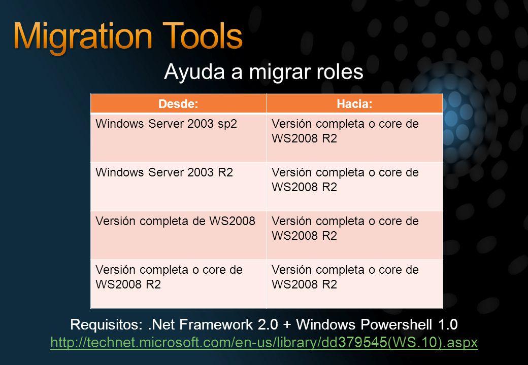 Requisitos: .Net Framework 2.0 + Windows Powershell 1.0